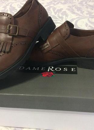 Модные туфли оксфорды.