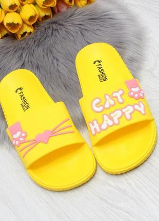 """шлепки """"kitten"""" желтый"