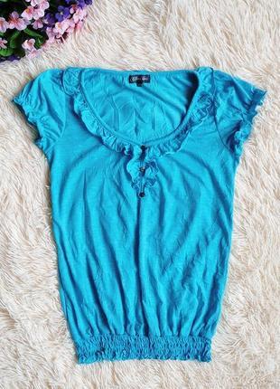 Футболка блуза clara vitti, короткий рукав