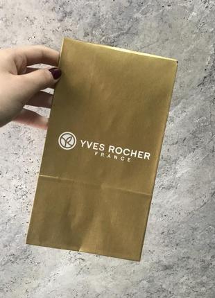 Пакет подарунковий з липучкою yves rocher