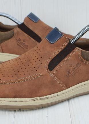Мокасины rieker antistress кожа германия 42р кроссовки слипоны туфли