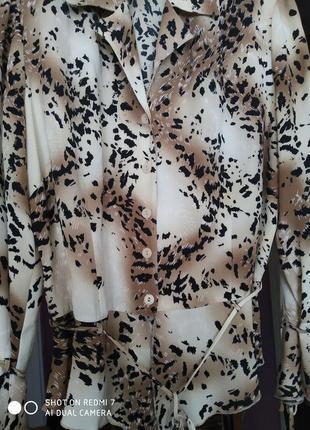 Блуза с длинным рукавом тигровая