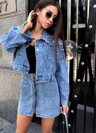 Джинсовка оверсайз джинсовая куртка