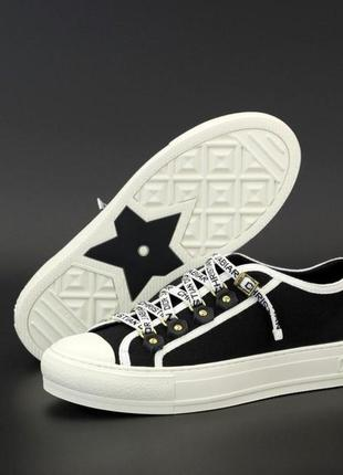 Женские кеды dior sneakers ◈ кроссовки ◈ черного цвета 😍