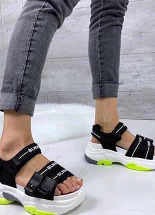 Акция! чёрные женские сандалии босоножки тренд 2020 года! последние!
