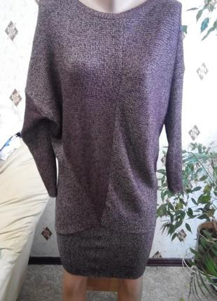 Ассиметричное платье туника zara knit