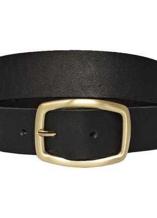 Jaconda10 кожаный женский ремень черный для джинсов