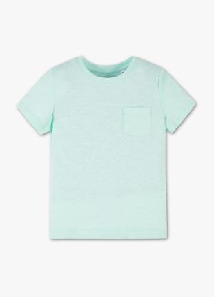 C&a мятная яркая летняя футболочка с нагрудным карманчиком 140 р.
