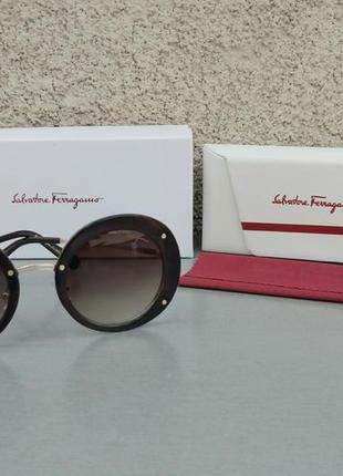 Salvatore ferragamo очки женские солнцезащитные коричневые с градиентом