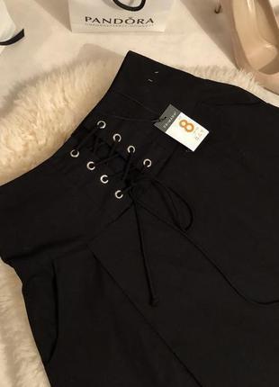 Мега крутая воздушная юбка с шнуровкой на талии и кармашками по бокам, р. 36/s ...💋👠💄