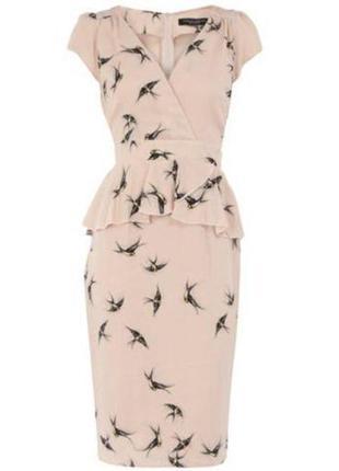 Шикарное платье от dorothy perkins миди пудрового цвета