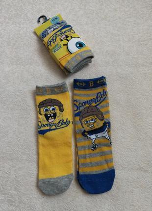 Комплект носков spongebob носки носочки испания