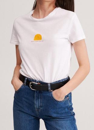 Легкая хлопковая футболка солнце