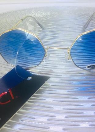 Солнцезащитные очки becato (италия), голубой градиент