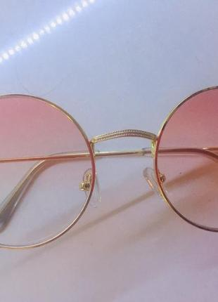Солнцезащитные очки becato (италия), розовый градиент