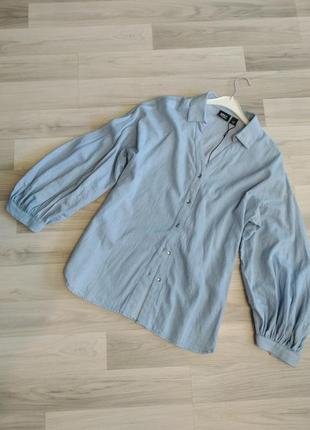 Рубашка джинсовая с объемными рукавами