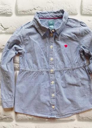 Gap стильная рубашка на девочку 5 лет