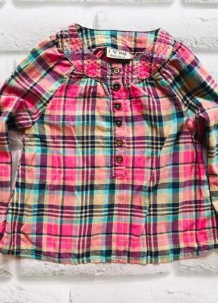 I love next  стильная рубашка на девочку  2-3 года