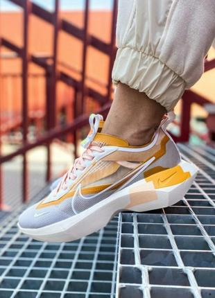 Шикарные кроссовки nike vista lite se grey yellow white кросівки