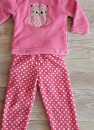Немецкая мягусенькая, теплая пижама р. 82-98 (с1,5 г - 3,5 года) своя, в идеале