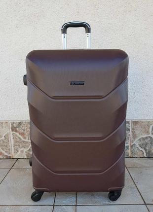 Брендовый чемодан большой suitcase 027 carbon