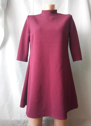 Мини платье цвета марсал
