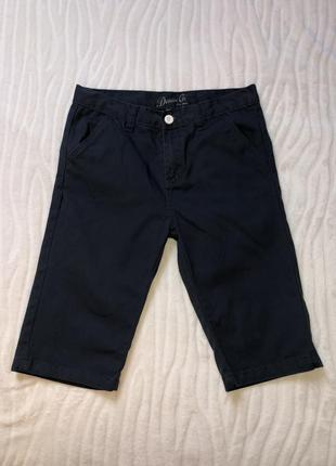 Темно-синие классические шорты denim co на 12-13 лет рост 158см.
