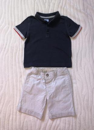 Летний комплект шорты matalan   f&f 1-2 года рост 92 см.
