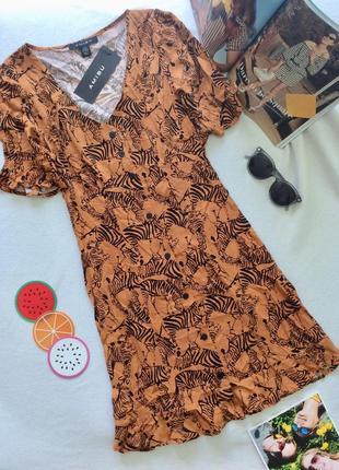 Платье с принтом зебры от amisu