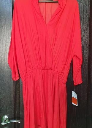 Шикарное красное платье zara l