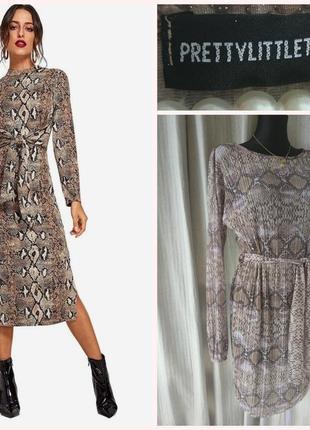 Фирменное стильное качественное платье в змииный принт