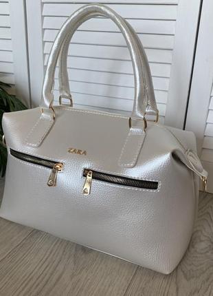 Жемчуг женская большая стильная молодежная сумка