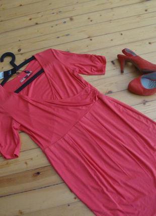 Платье next red размер m-l