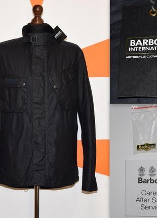 Оригінальна вощена куртка barbour international wax jacket вакс оригинал вощеная + значок