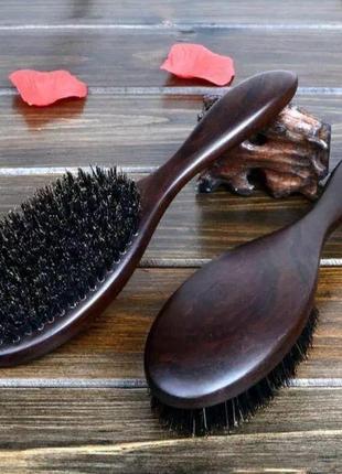 Розчіска для волосся зі щетини кабана
