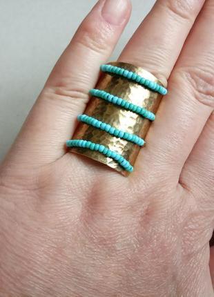 Широкое оригинальное кольцо 19 размера