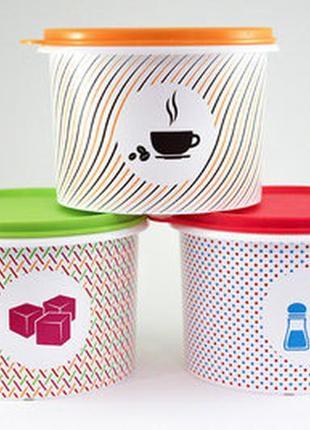 Набор tupperware для хранения кофе, сахара и соли