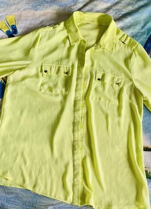 Рубашка салатовая