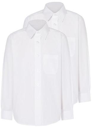 Рубашка белая george 128-136 см 7-9 лет