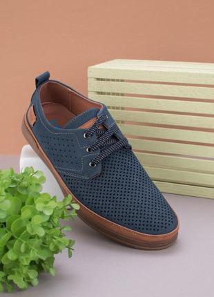 Мужские туфли с перфорацией летние