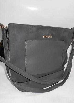 Женская сумка через плечо клатч #0033 серая