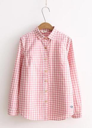 Рубашка блузка в клетку oversize