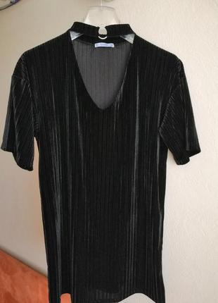 Платье велюровое pull&bear 28/m