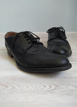Черные крутые мужские туфли броги оксфорды pier one размер 42