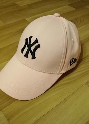 Стильная летняя кепка бейсболка персик 55-57
