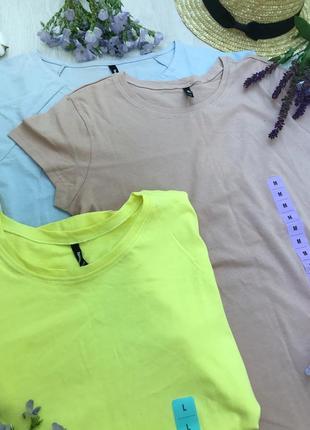Однотонные футболки sinsay