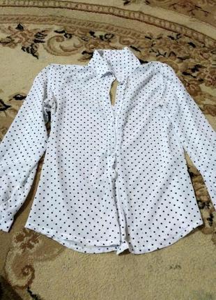 Лёгкая рубашка в горошек