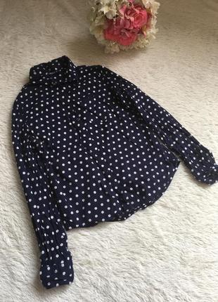 Стильная рубашечка в горошек
