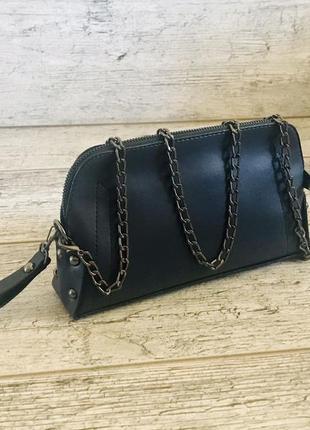 Женская сумка, клатч  эко-кожа 🇹🇷 4 кармана  24-12-6 ремешок цепочка 110см