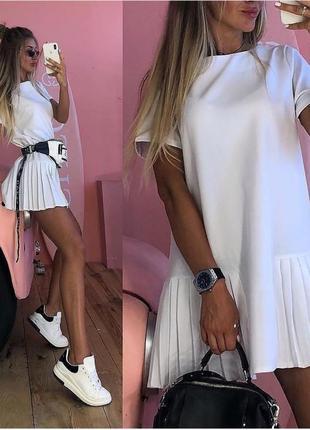 Суперське плаття з плесіровочкою